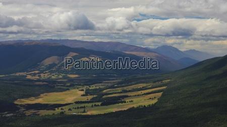 view from mt robert rural landscape