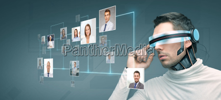 man with futuristic 3d glasses and