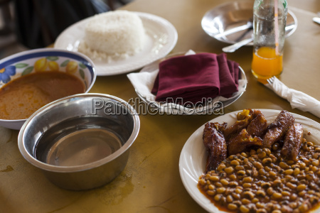 typical lunch in ghana