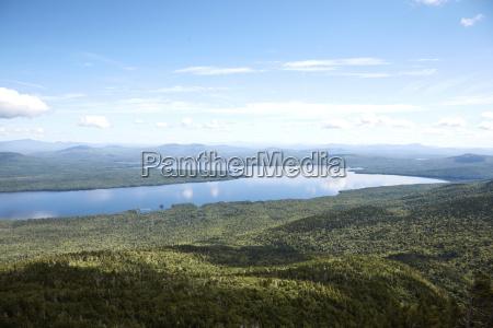 looking due north towards flagstaff lake