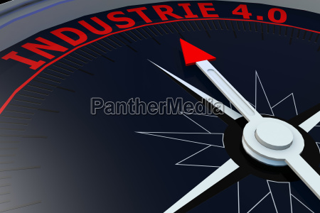 black compass with industrie 40 word
