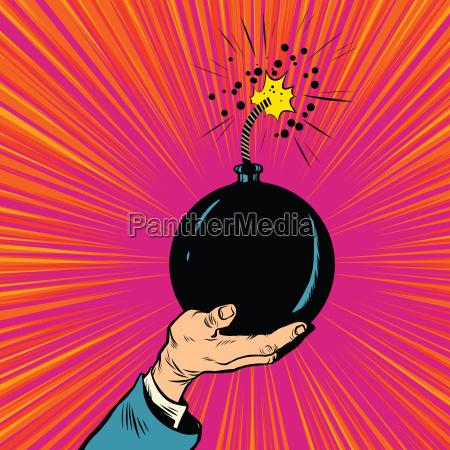 bomb burning fuse war terrorism