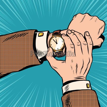 wrist watch retro pop art