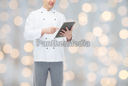 close up of happy male chef