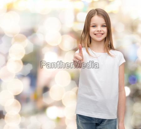 girl in blank white t shirt