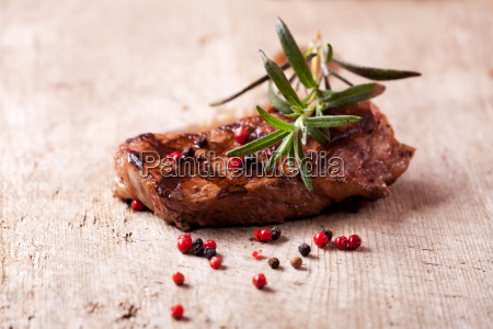 rosemary on a steak