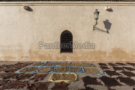 items drying in the sun marrakesh