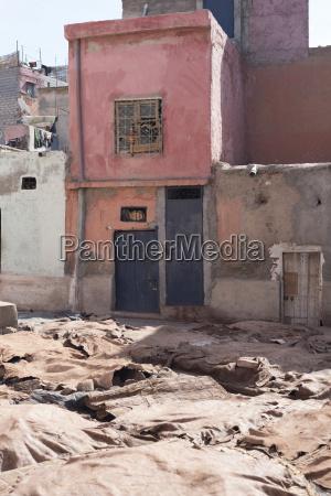 street scene marrakesh morocco