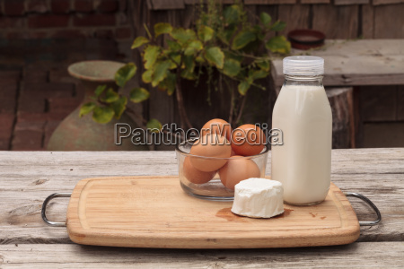 milk eggs and cheese