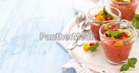 gazpacho soup in cups