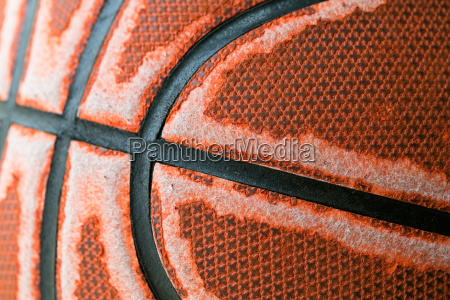 old basketball close up