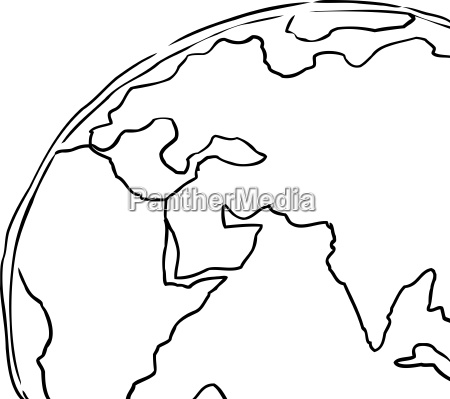 cropped view of earth outline