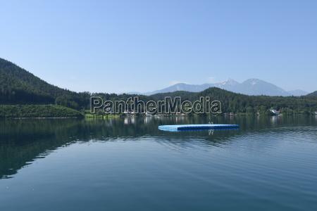 klopeiner see lido saint kanzian lake
