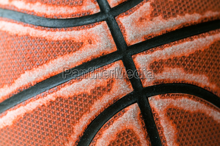 old basketball texture close up
