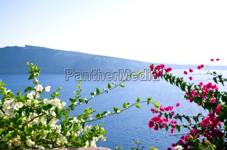 panorama beautiful island of santorini