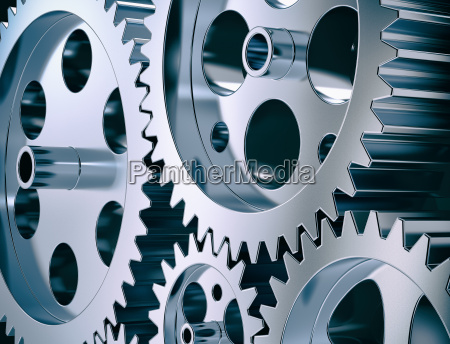 steel gear and cogwheels