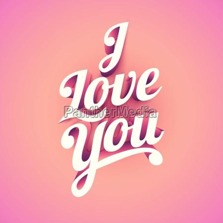 love vector custom 3d hand lettering