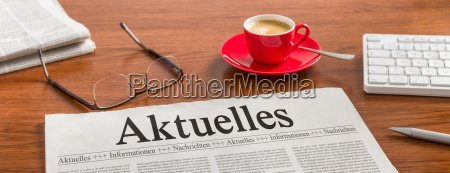newspaper on desk news