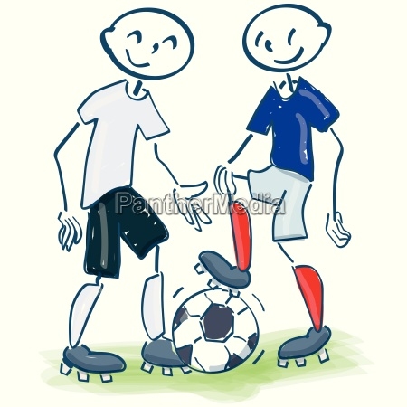 stick figures as a football player