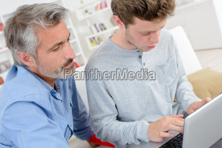 young man in the laptop