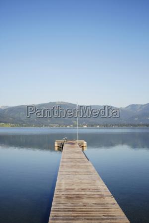dock at lake sankt wolfgang salzkammergut