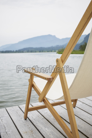 deck chair on dock tirol austria