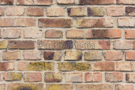 close up of exterior brick wall