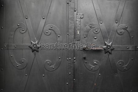 detail of door stare miasto warsaw