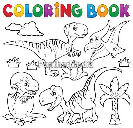 coloring book dinosaur theme 8