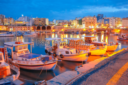 night old harbour of heraklion crete