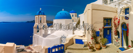 picturesque view of oia santorini greece
