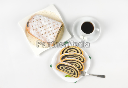 poppy seed roll and cup of