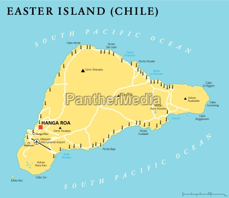 Easter Island Political Map Stock image 17767478 PantherMedia