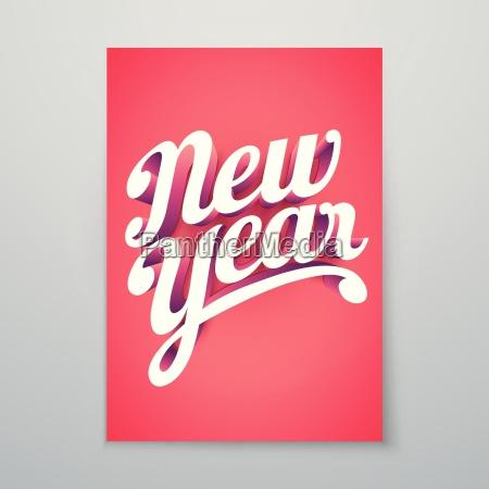 new year vector custom 3d hand