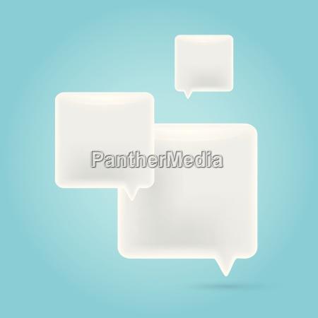 vector bright square white speech bubble