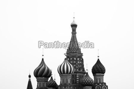 black and white saint basil39s cathedral