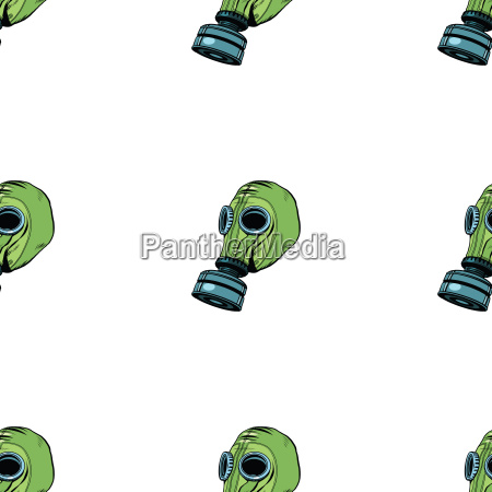 gas mask seamless vector pattern