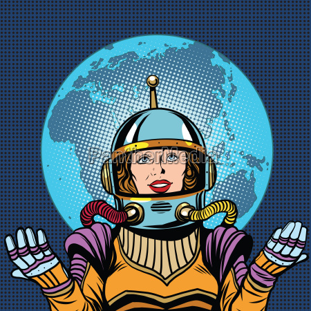 female astronaut symbol of life on
