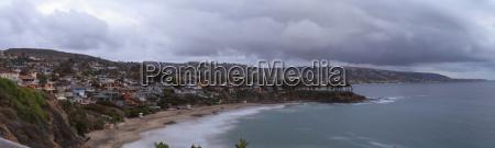 rain clouds over crescent bay