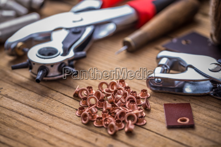 eyelet punch and rivets