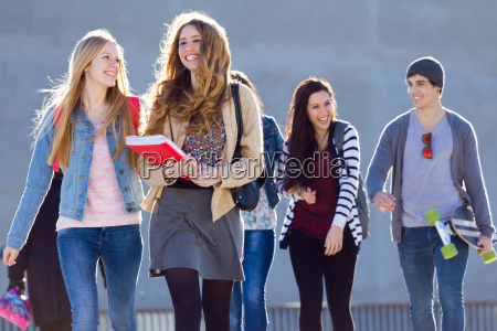 a group of students having fun