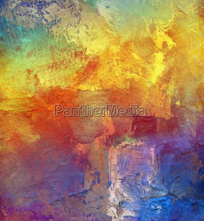 painting paint impasto rainbow