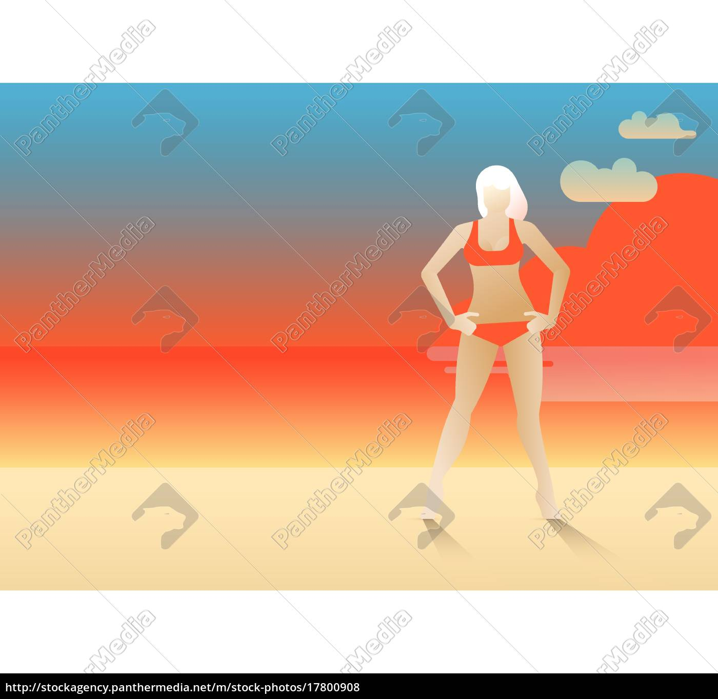 woman, on, the, sunset - 17800908