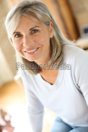 portrait of senior woman relaxing at