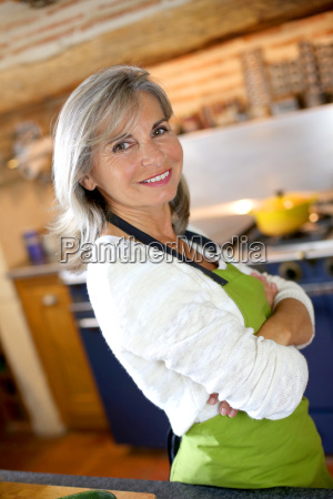 portrait of senior woman in home