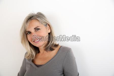 portrait of smiling senior woman
