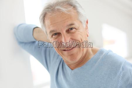 portrait of smiling senior man with