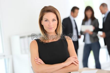 portrait of attractive businesswoman people in