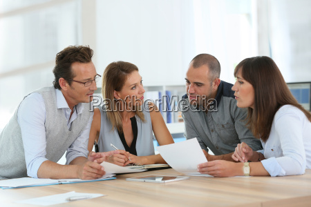 group of business people meeting in