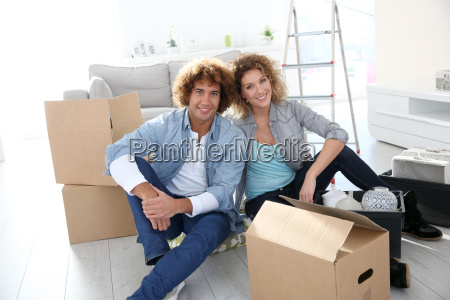 couple getting in their new apartment